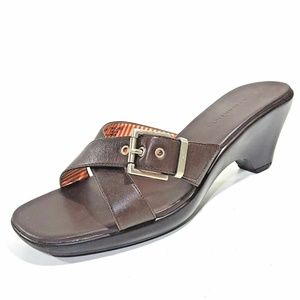Tommy Hilfiger Womens Shoes Mantra Buckle Chocolat